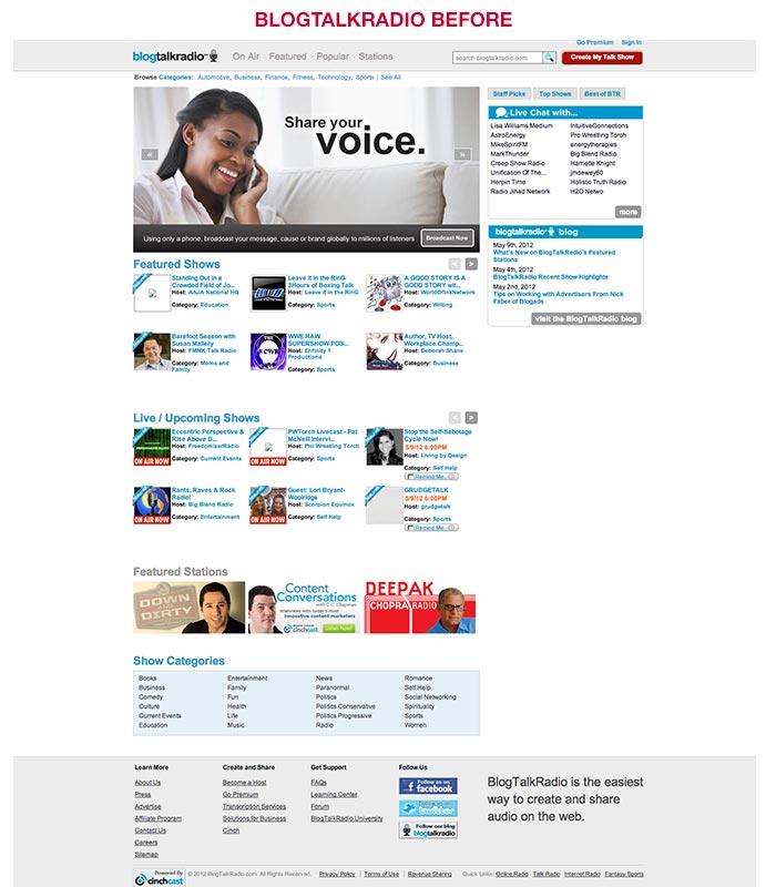 BlogTalkRadio Redesign